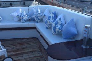 Sun & Shade Genova: arredamento interno per imbarcazioni, cuscineria e divani per imbarcazioni, imbottiti, idrorepellenti e resistenti ai raggi UV