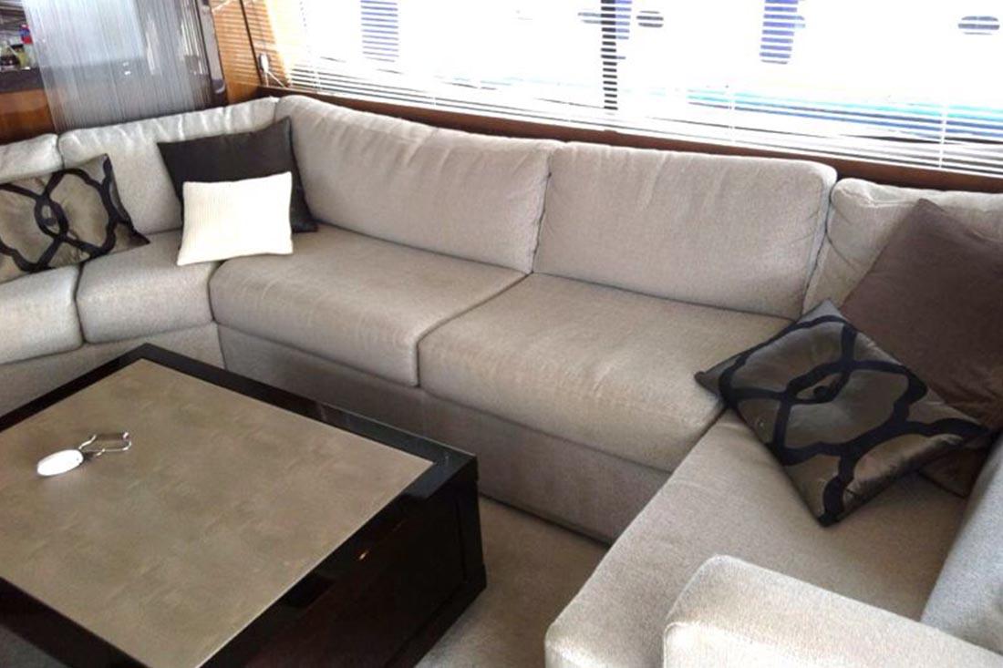 Cushions for boats - Boat upholstery Genoa - Sun & Shade